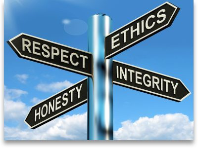 respect, integrity, honesty, ethics